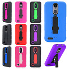 For Alcatel Dawn Combo Holster HYBRID KICKSTAND Rubber Case Phone + Screen Guard
