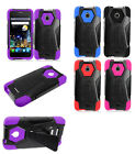 For Alcatel Dawn Turbo Layer HYBRID KICKSTAND Rubber Case Phone Cover Accessory