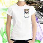Ladies T-shirt Australian Shepherd Pup in Pocket Dog Art Sizes XS-2X