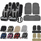 UAA Heavy Duty VAN Rubber Mats & Dual-Stitch Racing Polyester Seat Covers Set