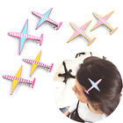 1 Pair Airplane Alloy Hair Clips Girl Women Hairpin Bobby Pin Barrette Gift
