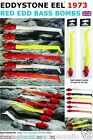 RED EDD COD BOMBS EDDYSTONE EEL 1976 190mm - PKT1 LURE  2 sizes 70g or 45g