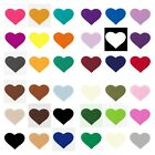 -:- Iron-On Heart Shapes -:- Felt Die-Cuts - Crafts etc. - 30+ Colours & 5 Sizes