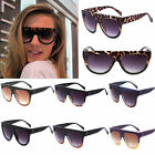 Fashion Womens Ladies Retro Oversized Flat Celebrity Designer Sunglasses Shades