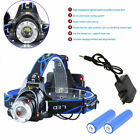 5000LM XM-L T6 LED Headlamp Head Light Torch Adjustable + Battery +Charger