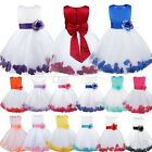 Girl Flower Wedding Bridesmaid Birthday Pageant Graduation Rose Petal Dress 2-14