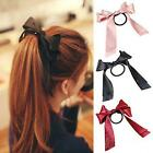 Women Multicolor Scrunchie Ponytail Holder Satin Ribbon Bow Hair Band Hair s6