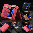 Luxury Portable Leather Flip Zipper Case Wallet Card Cover For Samsung Galaxy S7