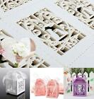 5PC Heart Hollow Birds Candy Boxes Ribbon Wedding Party Favours Gift  D¨¦cor s5
