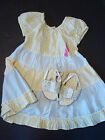 NWT Gymboree Baby Girl FLORAL PATCHWORK Tiered Dress 12-18 + SANDALS/Shoes Sz 4