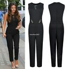 Sexy Black Women Clubwear V Neck Playsuit Bodycon Party Jumpsuit&Romper Trousers