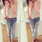 Vintage Women Short Slim Jacket Coat Outerwear Top Blouse Casual Sweatshirt Suit