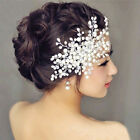 Elegant Charm Bride Crystal Pearl Rhinestone Headpiece Bridal Wedding Hair Comb