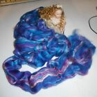 BEAUTIFUL DYED 50% MERINO & 50% SILK TOPS SPINNING FIBRE ART