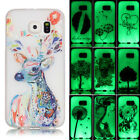 Colorful Painting Glow In The Dark TPU Soft Case Cover For Samsung Galaxy Phones