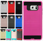 For Samsung Galaxy Note 7 Brushed Metal HYBRID Rubber Case Phone Cover Accessory