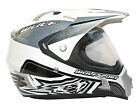 NEW WULFSPORT PRIMA SPEED SUN VISOR ROAD LEGAL DUAL SPORT HELMET STREETFIGHTER