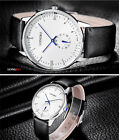 Waterproof LONGBO Fashion Men's Alloy Case Leather Analog Quartz Wrist Watches