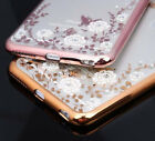 for iPhone 6 / 6S - TPU Rubber Gummy Case Cover Diamond Flowers with Butterfly
