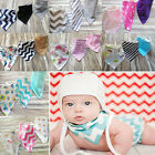 3 PCS Baby Girls Boys Bandana Bibs Triangle Head Scarf Saliva Towel Dribble New