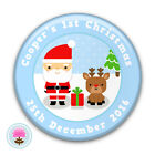 Personalised CUTE SANTA Baby Boy's Girl's First 1st Christmas Badge (58mm) Gift