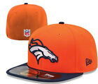 Denver Broncos On-Field Player Sideline 59FIFTY Fitted Flat Bill Brim Hat Cap CO on eBay