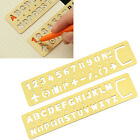 Brass Number Letters Template Ruler Drafting Drawing Stencil Kid Craft Tool
