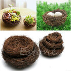 Handmade Vine Brown Bird Nest House Home Nature Craft Holiday Decoration Cute