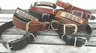 "Handmade Leather Dog Collar 3/4""&1"" Wide Name Drop/Personalize,Choose Color/Size"