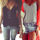 Fashion Women Summer Vest Tops Sleeveless Shirt Blouse Casual Tank Top T-Shirt