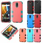 For Motorola Moto G 4th Gen. IMPACT TUFF HYBRID Protector Case Skin Phone Cover