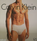 2 CALVIN KLEIN COTTON BIG BRIEFS SIZES: 44 46 48 50 52 54 56 60 BLACK WHITE GRAY