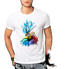 Dragonfly on Rainbow Flower Watercolor Art T-shirt Youth - Adult