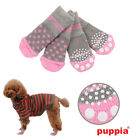 Any Size - Puppia - Polka Dot - Dog -  Non Skid Socks - Pink & Grey - Set of 4
