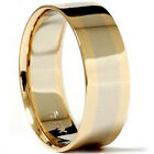 Mens 8mm 14k Yellow & White Gold Two Toned High Polished Wedding Band Ring