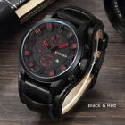 Fashion Curren Mens Date Stainless Steel Leather Analog Quartz Sport Wrist WatchWristwatches - 31387