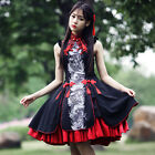 Halloween Chinese Women Lolita Cheongsam Costume Dragon Vintage Gothic Dress