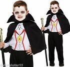 Boys Vampire Dracula Halloween Fancy Dress Costume age Toddler to 12 years