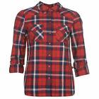 Noisy May Womens Erik Check Shirt Ladies Long Sleeve Button Front Chest Pockets