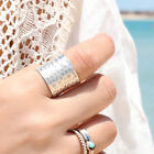 Sterling Silver Ring 925 Genuine Handmade Extra Wide Band Cigar Chic Size