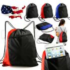 NEW Colorblock Drawstring Backpack Cinch Sack School Tote Gym Bag Sport Pack