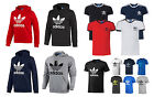Adidas Originals Mens Trefoil Fleece Sweatshirt Hoodie and T.shirt Size S M L XL