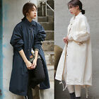 Women's Spring Casual Loose Coat  Long Trench Jacket Military Windbreaker Coat
