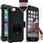 Rugged Case Cover Stand Holster Belt Clip Tempered Glass for iPhone SE 5 6 Plus
