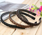 Womens Chamrs Wig Braid Hair Bands Hoop Head Buckle Headband Plastic Twist Draid