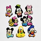 40PCS new Minnie Mickey pvc shoe charms buckle for Bracelets with holes, gifts