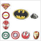 Lapel Pin Brooch Emblem Silver Red Badge Superhero Justice League Marvel Gift