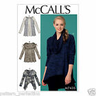 McCall's 7435 Sewing Pattern to MAKE Misses' Paneled Knit Tops w/ Neckline Vari