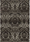Orian Gray Contemporary Synthetics Curves Bulbs Petals Area Rug Floral 4300