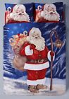 Father Christmas Santa Claus Xmas Duvet Quilt Cover Bedding Set with Pillowcases